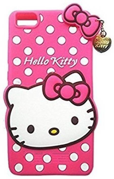 new style 08b52 ae6b1 2Bro Back Cover for Hello Kitti Glossy Look Bnack Cover Case For - Vivo 1603