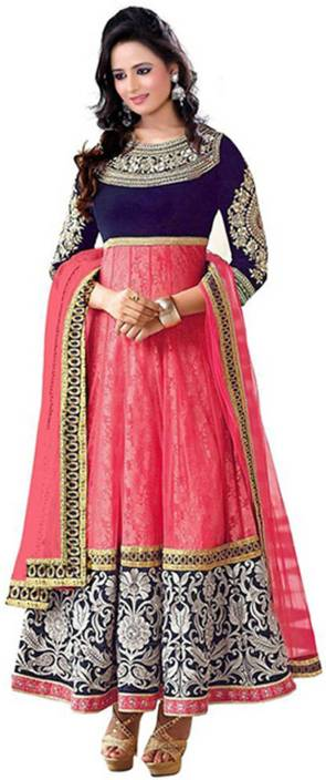 PMD Fashion Velvet Embroidered Salwar Suit Dupatta Material