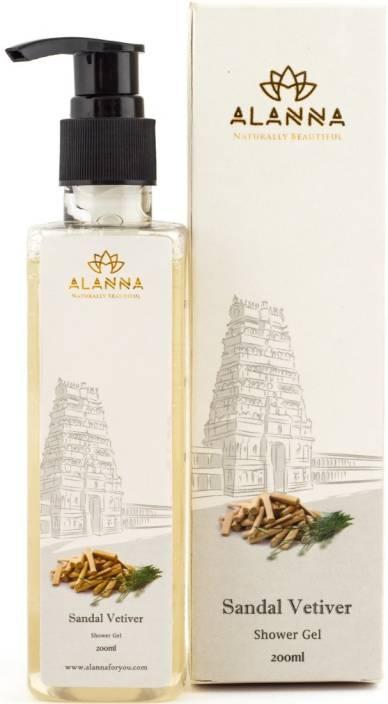 Alanna Naturally Beautiful Sandal & Vetiver Shower Gel for Men and Women - 200 ml