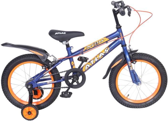 Atlas Mettle Sports Bike For Kids Age Of 5 8yrs Blue Orange 16 T