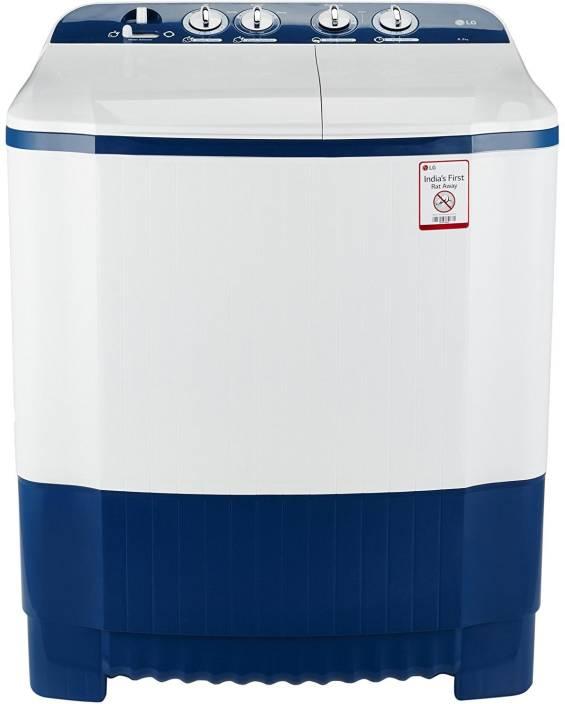 LG 6.2 kg Semi Automatic Top Load Washing Machine White, Blue