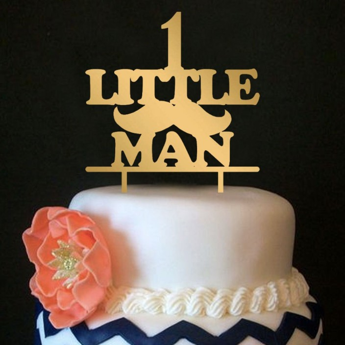 Engrave Little Man Birthday Cake Topper Price in India Buy