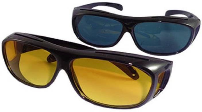 708a5da497 ATTRACTIVE New Day   Night HD Vision Goggles Anti-Glare Polarized Sunglasses  Men Women Driving Glasses Sun Glasses UV Protection Motorcycle Goggles ( Black