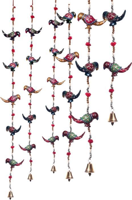 Dreamkraft Rajasthani Decorative Parrot Door Hanging For Main Door