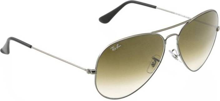 cf6998e7317 Buy Ray-Ban Aviator Sunglasses Brown For Men Online   Best Prices in ...