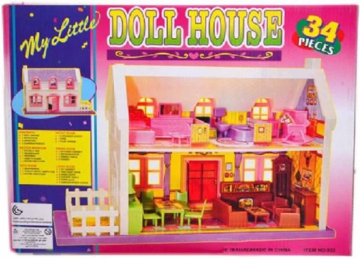 Charlies Toy Factory Doll House 34pcs Set Doll House 34pcs Set