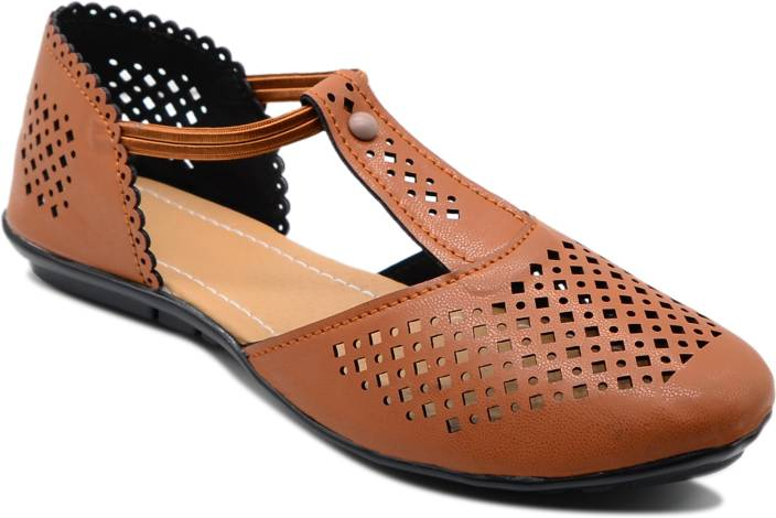 d3a9d789bb8a Myra Women Tan Flats - Buy Tan Color Myra Women Tan Flats Online at Best  Price - Shop Online for Footwears in India