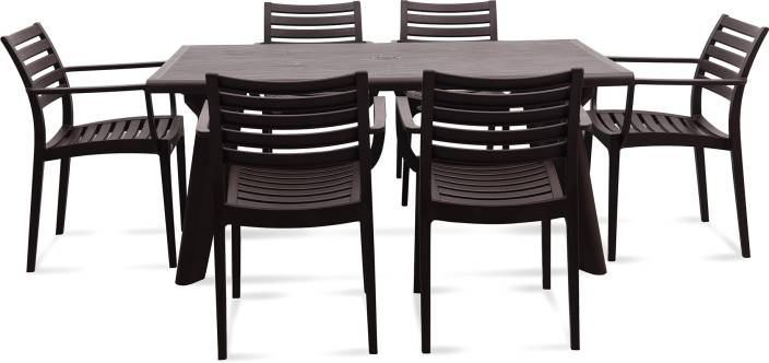 pretty nice 026a9 3f197 Supreme Plastic 6 Seater Dining Set Price in India - Buy ...