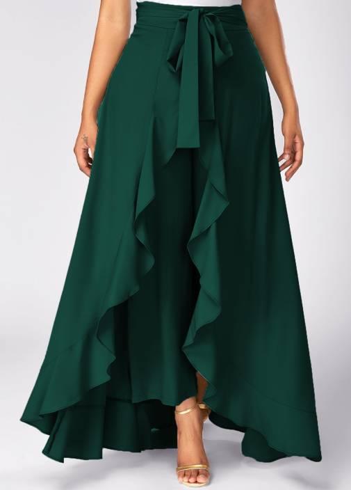 05e7e91d128e Slenor Solid Women's Layered Dark Green Skirt - Buy Dark Green Slenor Solid  Women's Layered Dark Green Skirt Online at Best Prices in India |  Flipkart.com