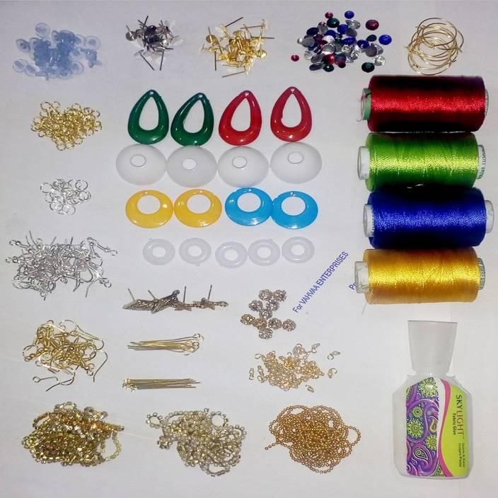 7d01391b83 Valuebuy Silk thread Jumka Earing Materials combo kit- makes complete silk  thread jumka - Silk thread Jumka Earing Materials combo kit- makes complete  silk ...