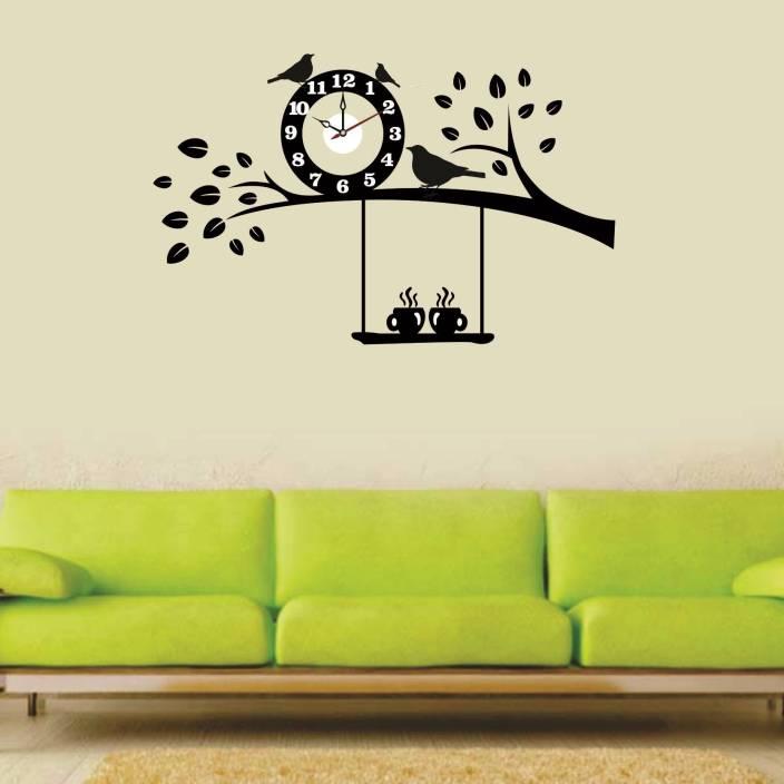 syga medium wall clock sticker price in india - buy syga medium wall