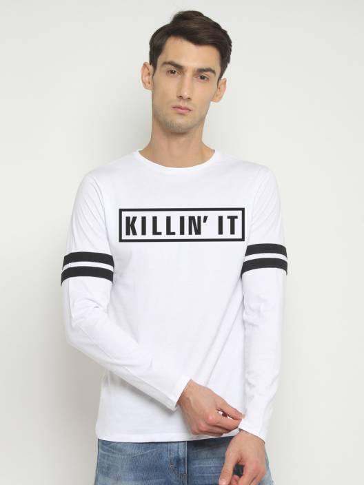 SayItLoud Printed Men's Round Neck White T-Shirt