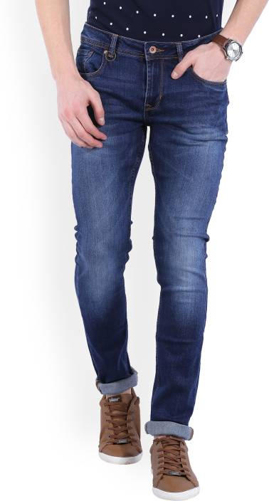 Peter England University Slim Mens Blue Jeans