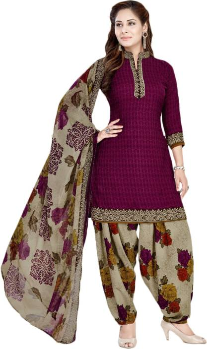 ef7084ce4 Giftsnfriends Crepe Printed Salwar Suit Material Price in India ...