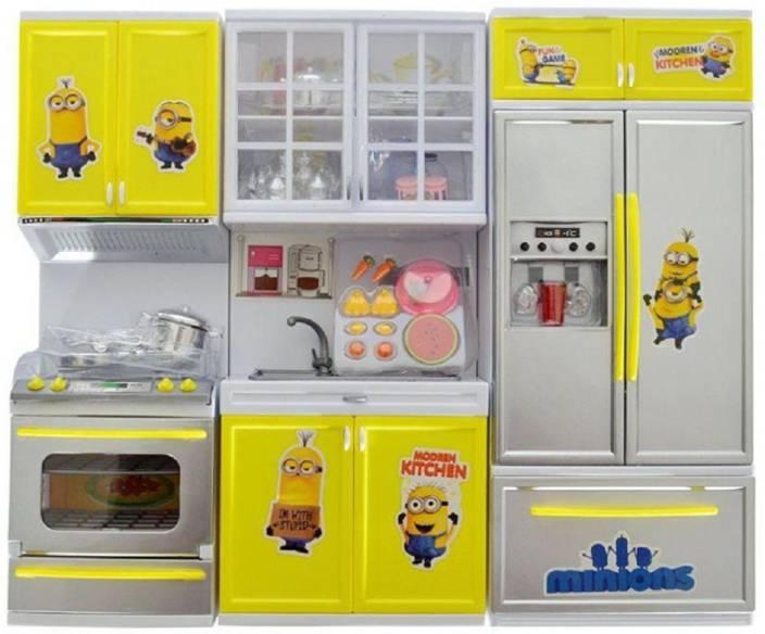 Kashti Vaibhavi Enterprise Multicolor M3 Kitchen Set For Kids