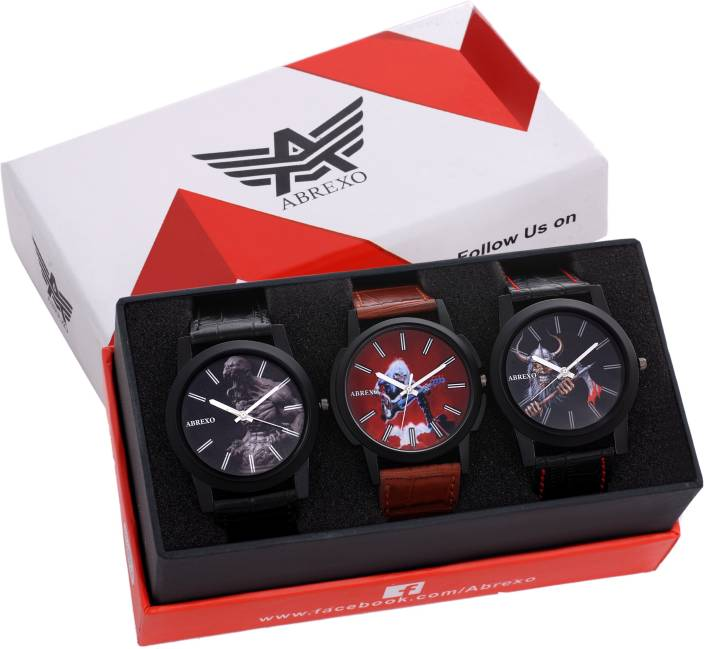 Abrexo Abx0667-Combo of three (Formal+Casual+Party Wear) Shadow Series Watch  - For Men