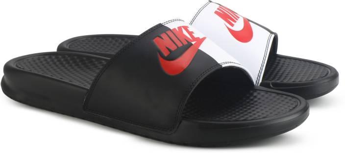 1730044dc Nike BENASSI JDI Slides - Buy BLACK GAME RED-WHITE Color Nike BENASSI JDI  Slides Online at Best Price - Shop Online for Footwears in India