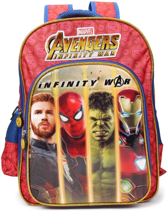 15ba9a1791 Marvel Avengers Infinity War 18 inch School Bag (Red