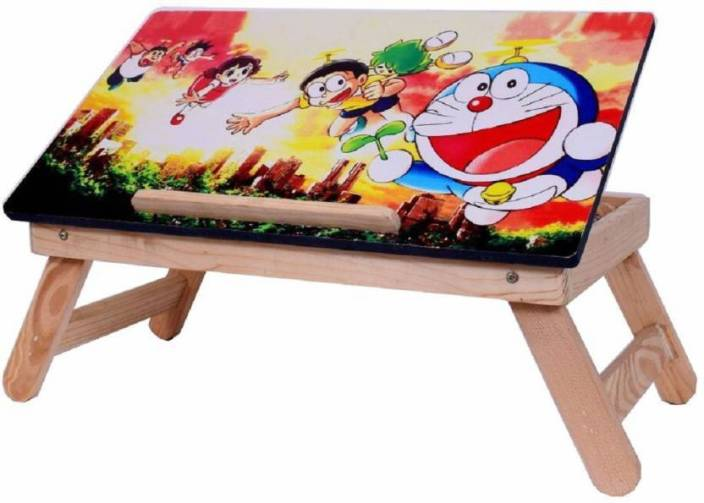 SSS Cartoon Charachter Wooden high quality Multipurpose Table For Laptop/ Study / Reading / Eating / Craft-work/Bed Table Bamboo Portable Laptop Table