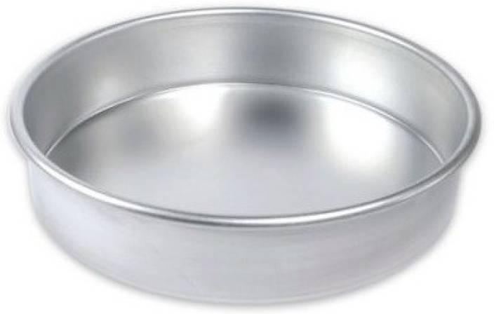 TAG3 1 Round Shape Aluminium Cake Mold Tin - 6 Inches | Half Kg Capacity -