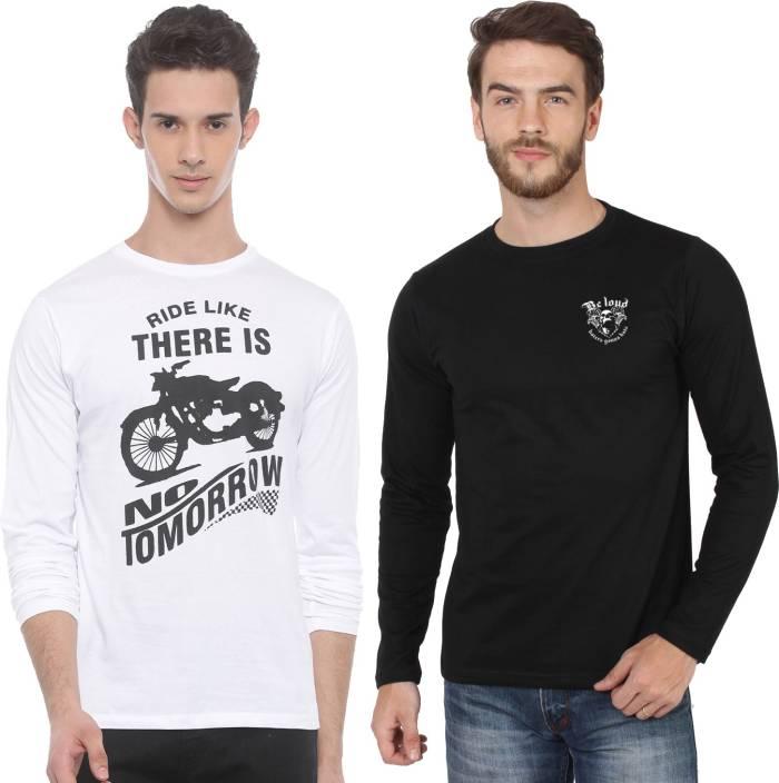 SayItLoud Printed Men's Round Neck White, Black T-Shirt
