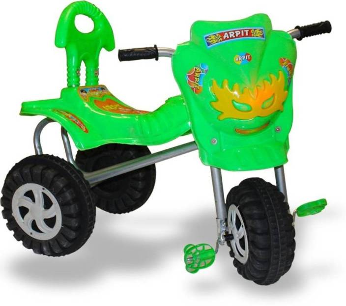 AKSHAT TRICYCLE WITH MUSIC FOR FIRST BIRTH DAY GIFT Green Tricycle