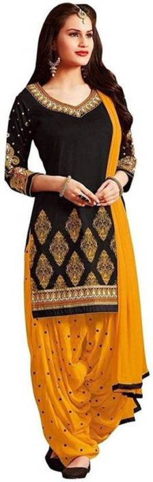 SNH Export Pure Cotton Embroidered Salwar Suit Dupatta Material