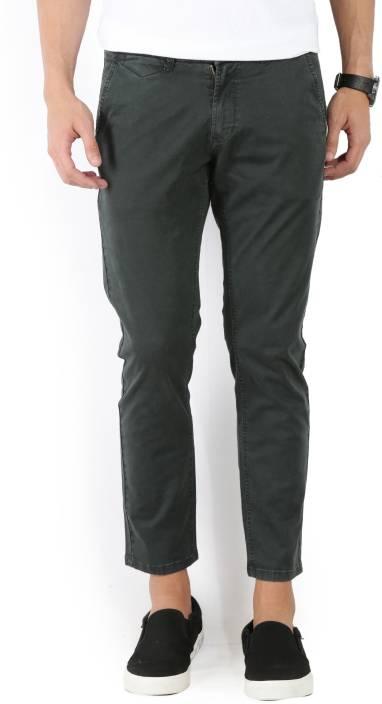 4eeeb1f33a13a9 Spykar Slim Fit Men's Dark Green Trousers - Buy Olive Spykar Slim Fit Men's  Dark Green Trousers Online at Best Prices in India   Flipkart.com
