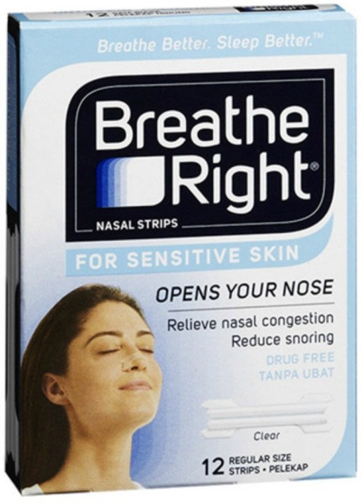 Breathe right throat strips agree, useful