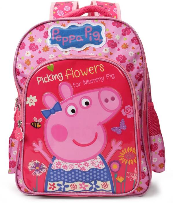 726d67b71382 Peppa Pig Floral Pink 16 inch School Bag (Pink