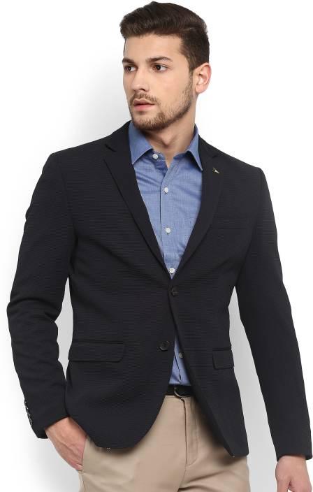 Arrow Woven Single Breasted Formal Men's Blazer
