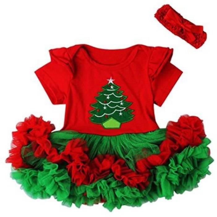 db366566102dd Daoroka Dress Baby Christmas Girl Santa Striped Princess Lace ...