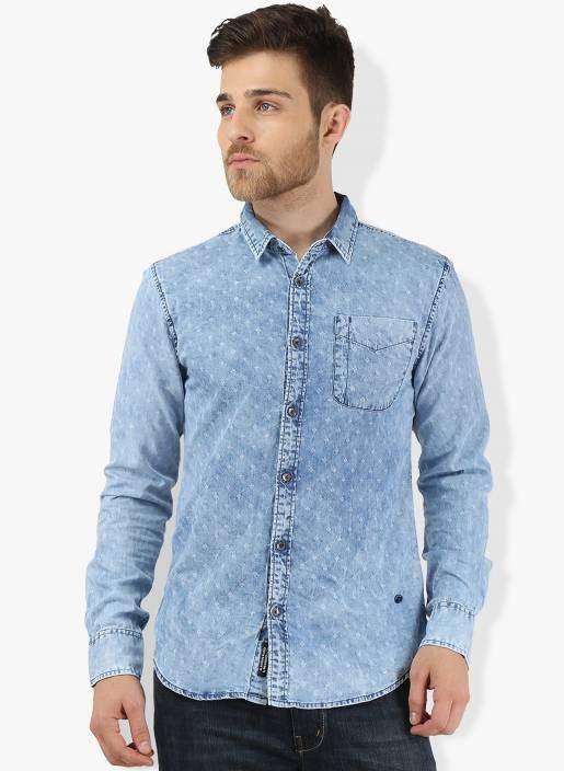Breakbounce Men's Solid Casual Spread Shirt