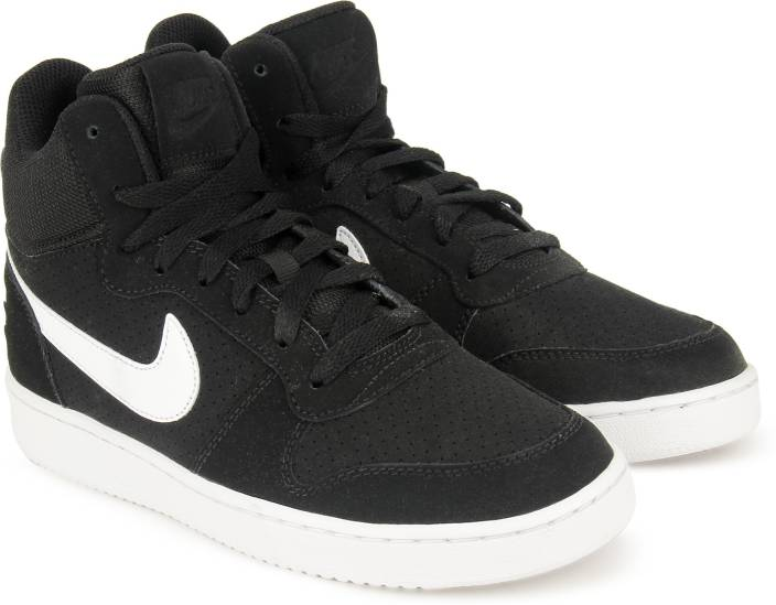7f99b8af5d99 Nike COURT BOROUGH MID Mid Sneakers For Men - Buy BLACK   WHITE NOIR ...