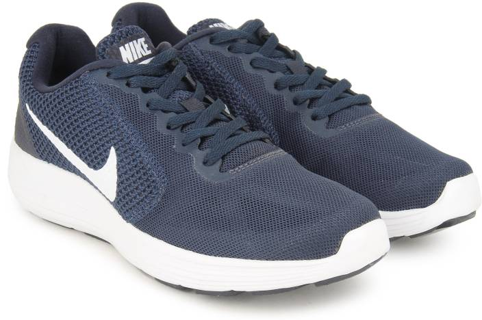 c83fe7af65b Nike REVOLUTION 3 Running Shoes For Men - Buy MIDNIGHT NAVY WHITE ...