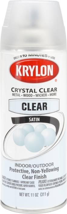 Krylon Satin Finish Crystal Clear Spray Coating 11Oz - Satin