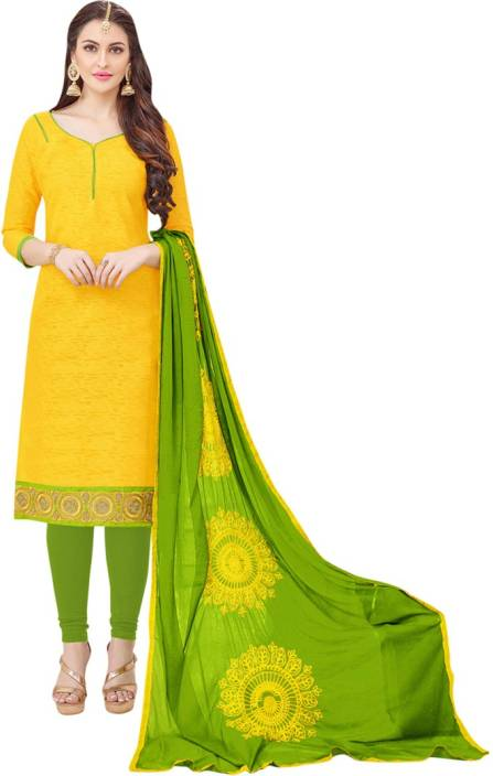 Manvaa Jacquard Embroidered Semi-stitched Salwar Suit Dupatta Material