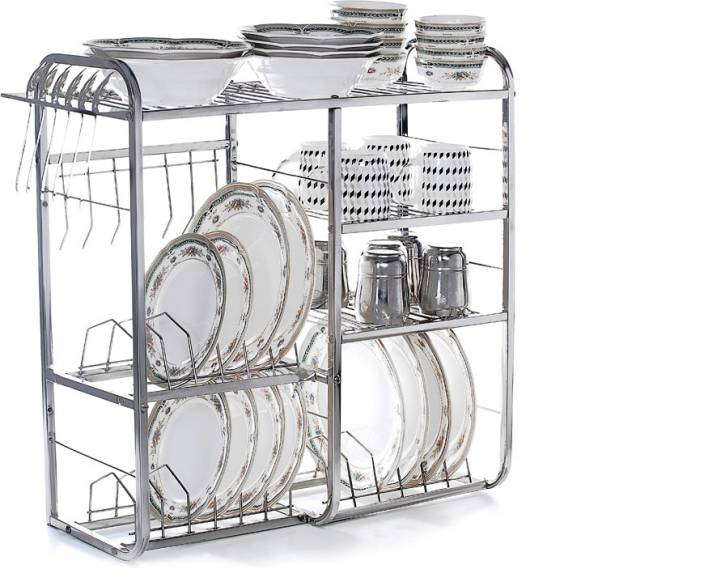 Home Creations 24 inch wall mount Kitchen Dish Rack Stainless Steel Kitchen  Rack
