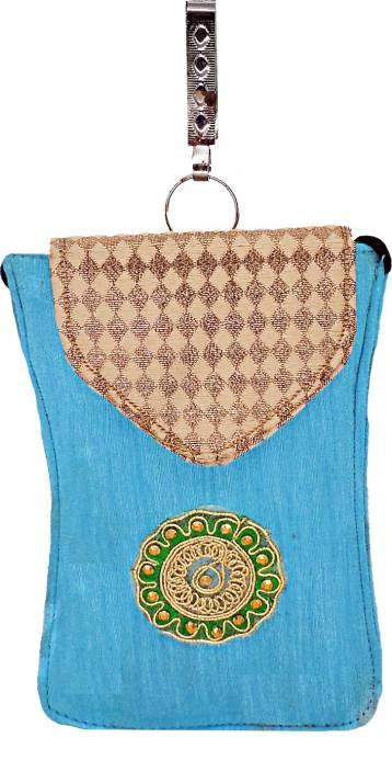 4122510959b Bagaholics Ethnic Raw Silk Saree Clutch Sling Bag Mobile Pouch Waist ...