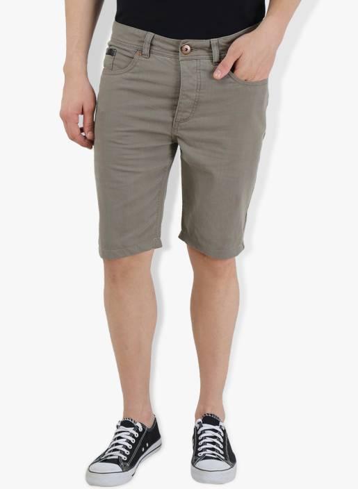 Breakbounce Solid Men's Green Chino Shorts