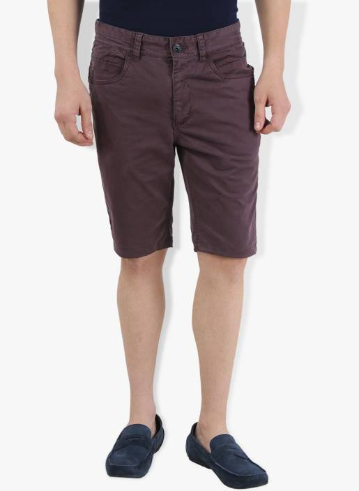 Breakbounce Solid Men's Brown Chino Shorts