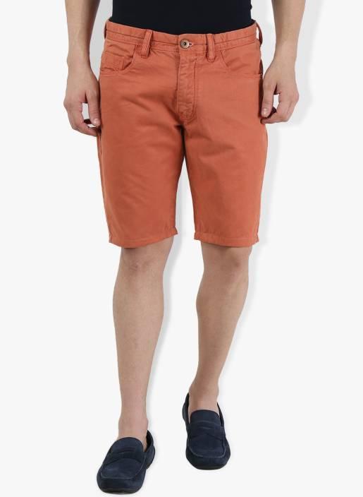 Breakbounce Solid Men's Orange Chino Shorts