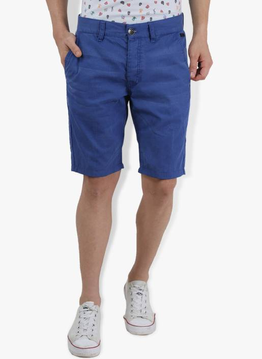 Breakbounce Solid Men's Blue Chino Shorts