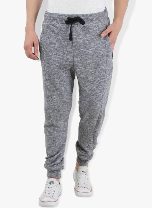 Breakbounce Solid Men's Grey Track Pants
