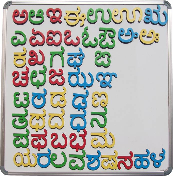 cryo craft Wooden Magnetic Kannada Alphabets/Letters