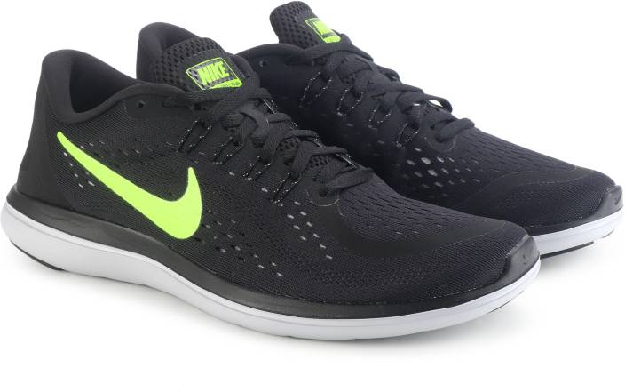 0c6f52285497 Nike FLEX 2017 RN Running Shoes For Men - Buy BLACK VOLT-WOLF GREY ...