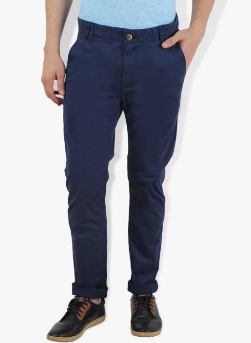 Breakbounce Slim Fit Men's Blue Trousers