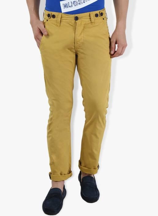 Breakbounce Slim Fit Men's Yellow Trousers
