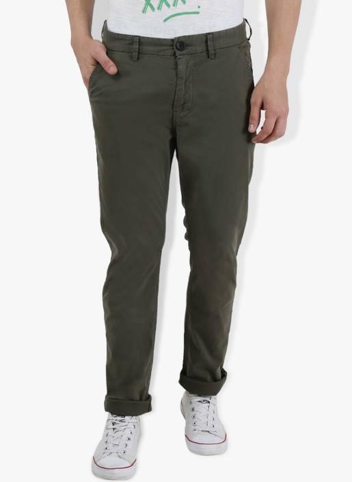 Breakbounce Slim Fit Men's Green Trousers