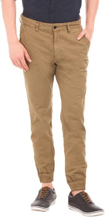 Breakbounce Slim Fit Men's Brown Trousers